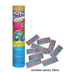 Confetti kanon verjaardag 60