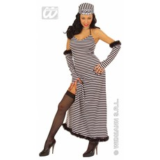 Gevangene kostuum schone dame