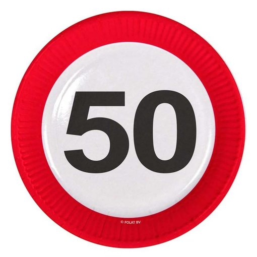 50 Jaar Verkeersbord Borden - 8 stuks