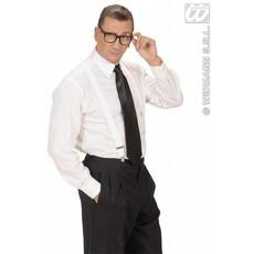 Satijnen stropdas zwart