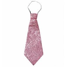 Stropdas lurex roze