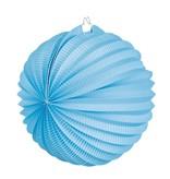 Papieren ballonlampion blauw (23 cm)