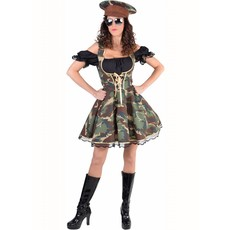 Officier outfit dames camouflage