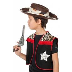 Texas hoed met koeband bruin