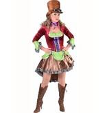 Steampunk 'burlesque' kostuum vrouw