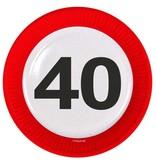 40 Jaar Verkeersbord Borden - 8 stuks