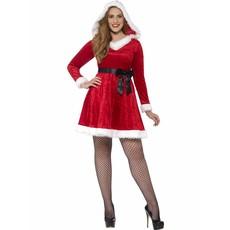 Kerstvrouw kostuum plus size