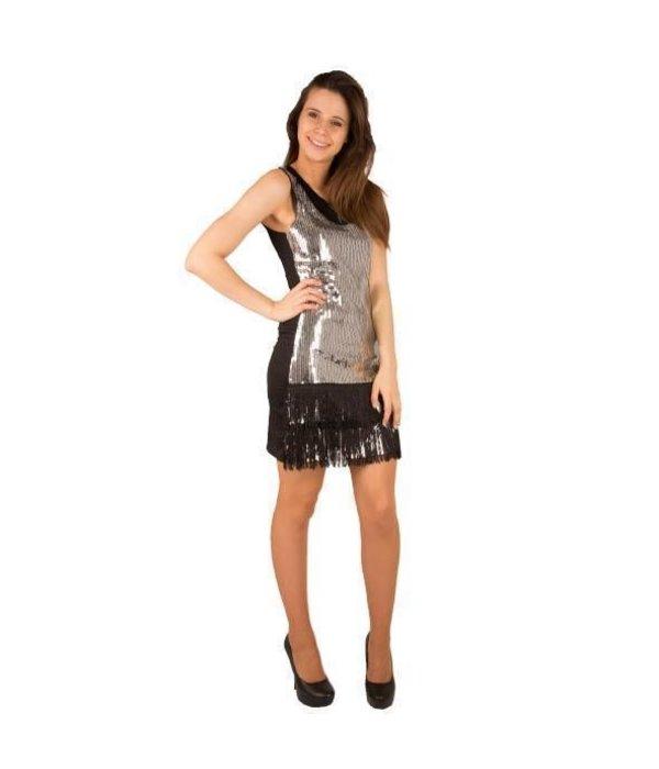 Zilveren pailletten jurkje