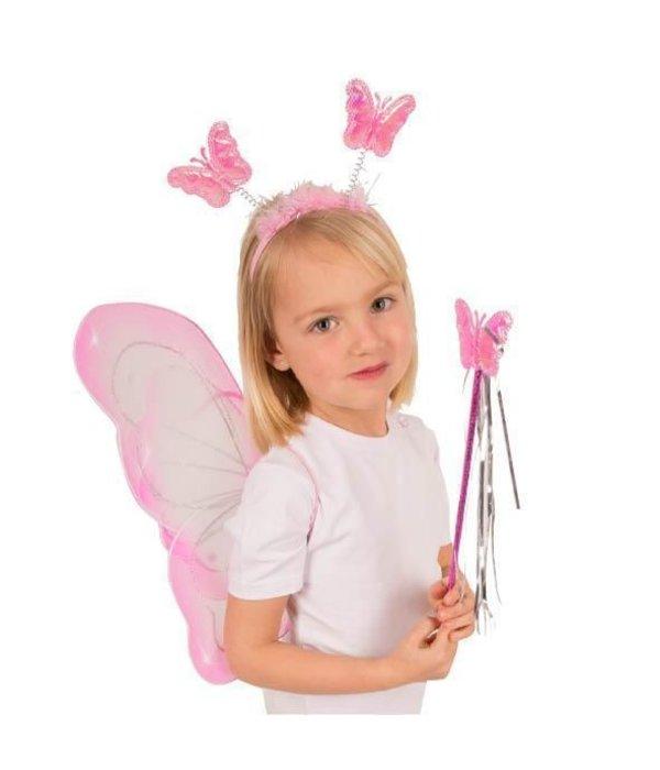 Set vlinder roze