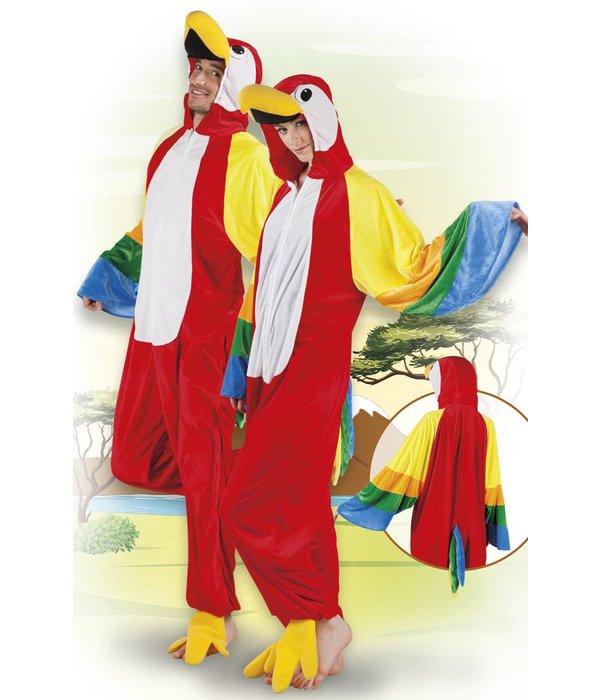 Papegaai pak man/vrouw pluche