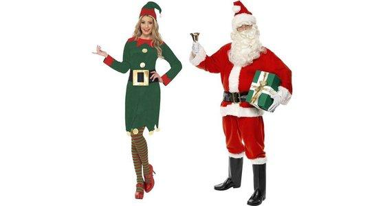 Kerstmanpak kerstvrouw pakje