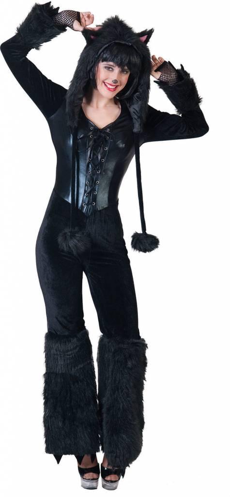 Zwarte panter outfit dames