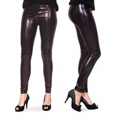 Legging metallic zwart