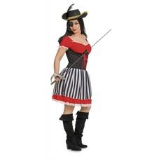 Piraten jurk vrouw