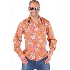 Hippie blouse Paisley oranje/bruin