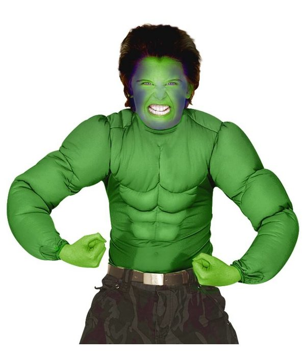 Hulk spierballen shirt kind