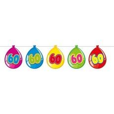 Vlaggenlijn ballonnen 60 jaar