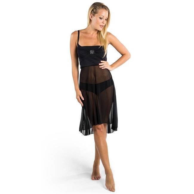 Panos Emporio Athena | Panos Emporio strandjurk kort zwart