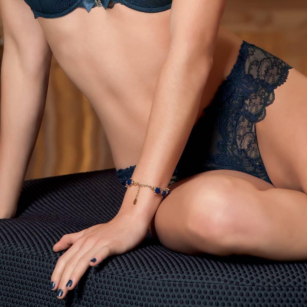 Italian Design Lise Charmel lingerie Soir de Venise Shorty blauw