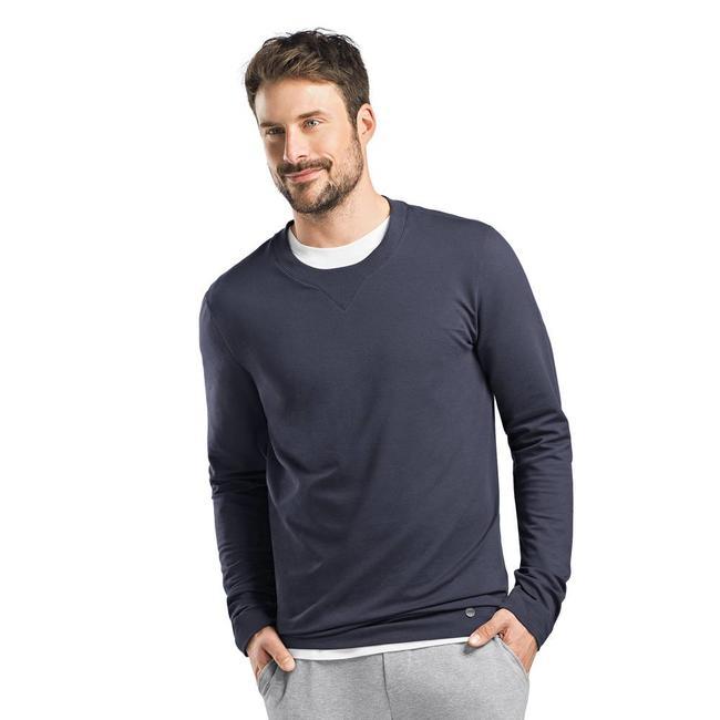 Hanro  Hanro Heren Sleep & Lounge Living Leisure sweatshirt blauw