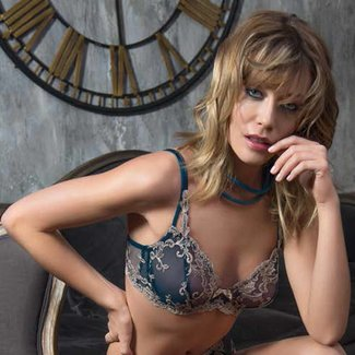 AMBRA AMBRA Lingerie Platinum  Fashion Soft cup Bra green