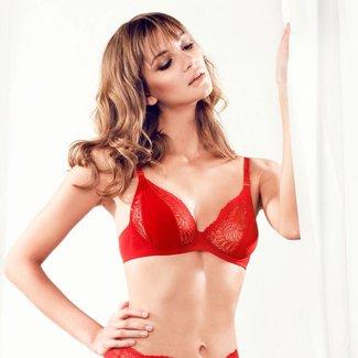 Parah  Parah lingerie dames zijden  balconette bh rood