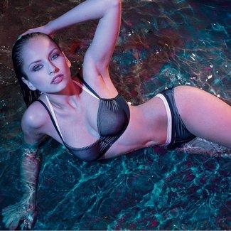 Nicole Olivier Nicole Olivier Badmode bikini slip Bernard zwart 5118