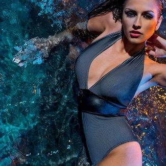 Nicole Olivier Nicole Olivier Badmode badpak Best zwart 5115