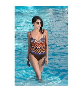 Parah  Parah Beachwear Ladies Swimsuit Etno Chic blue