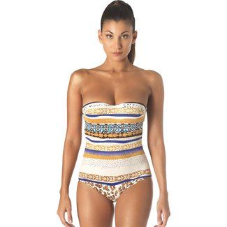 Parah  Parah Beachwear Swimsuit Animalier Brown