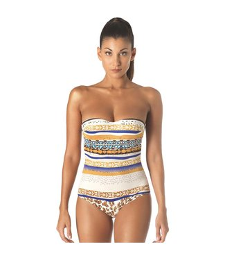Parah  Parah Beachwear Swimsuit Animalier Brown