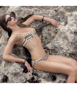 Parah  Parah Beachwear  Bikini Animalier Brown