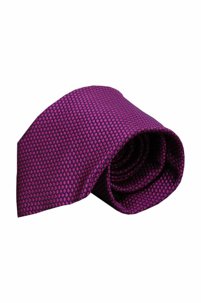 Paarse zijden stropdas VC63