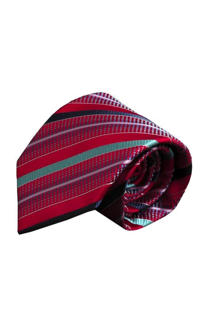 Rode zijden stropdas V56