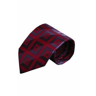 Massimo-Valeri  Rode zijden stropdas V49