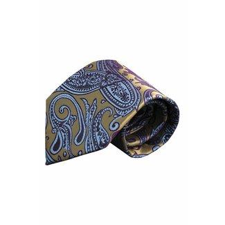 Massimo-Valeri  Yellow silk necktie V47