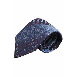 Massimo-Valeri  Blauwe zijden stropdas V45