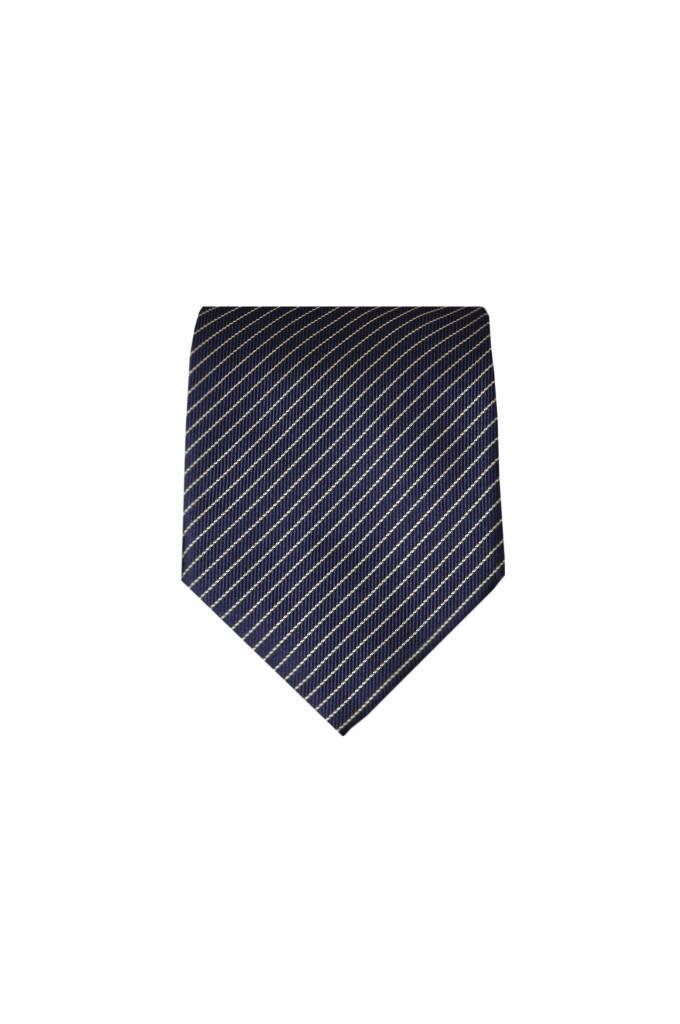 Blauwe zijden stropdas M20