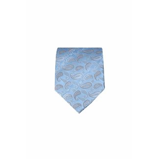 Massimo-Valeri  Blauwe zijden stropdas M19