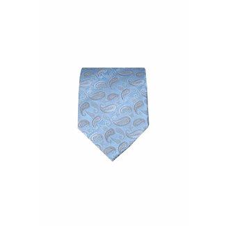 Massimo-Valeri  Blue silk necktie M19