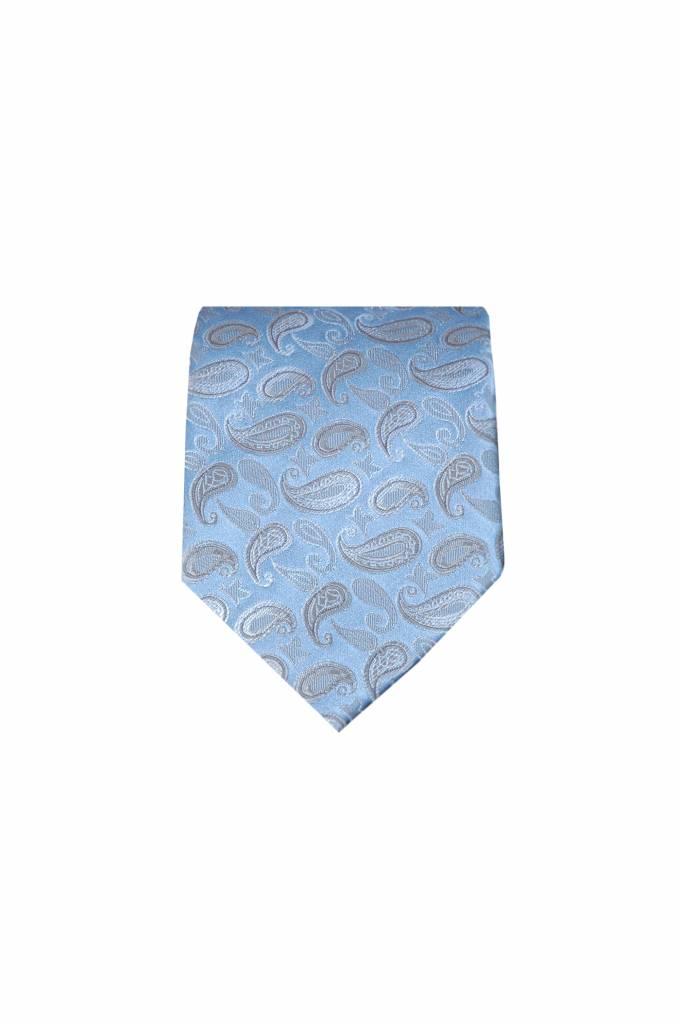 Blauwe zijden stropdas M19