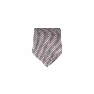 Massimo-Valeri  Bruine zijden stropdas M18