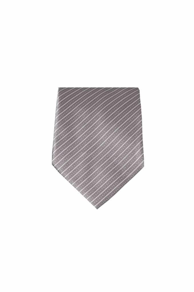 Bruine zijden stropdas M18