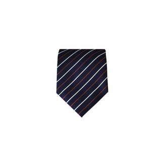 Massimo-Valeri  Blauwe zijden stropdas M15