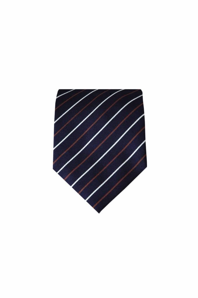 Blauwe zijden stropdas M15