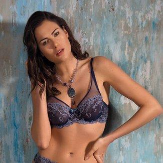 AMBRA  AMBRA Lingerie Bh's Platinum Fashion Soft Cup BH Blauw