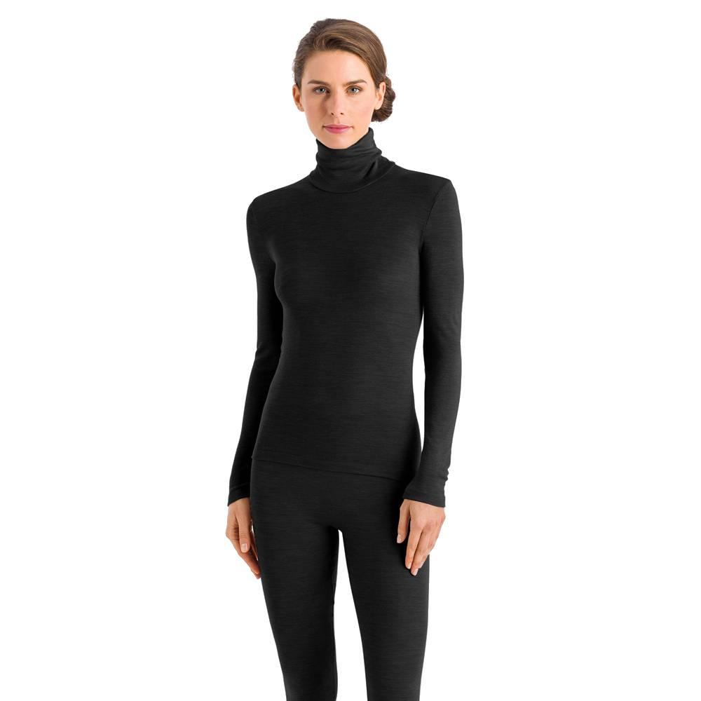 Dames·longleg·Hanro·Woolen Silk·zwart·71422