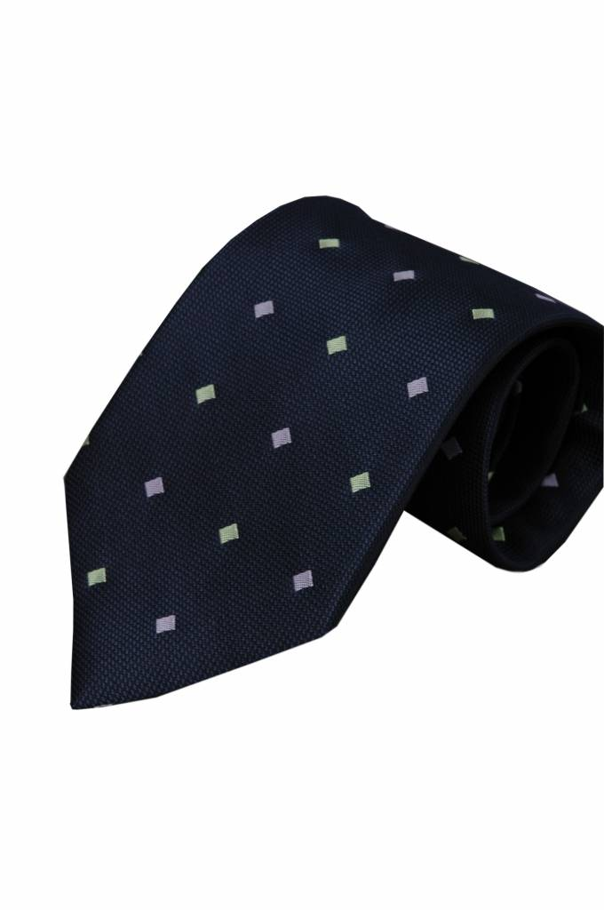 Blauwe zijden stropdas Ragusa 01