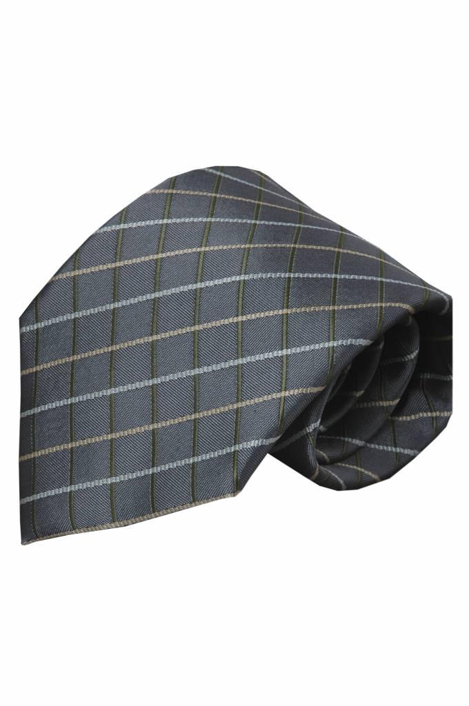 Grijze zijden stropdas Renate 01