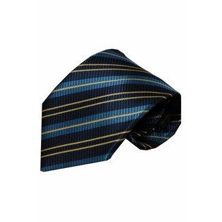 Vincelli Alberto  Blauwe zijden stropdas Naro 01